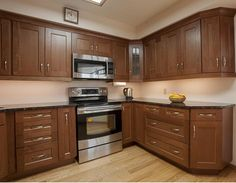 Check Out This Transitional Kitchen With Rich Shaker Maple Cabinets.  #interiordesign #homedecor