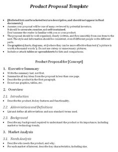 One Page Proposal Template  Images And Template  The Up Project
