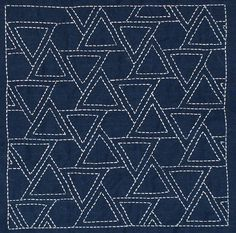 sashiko triangles