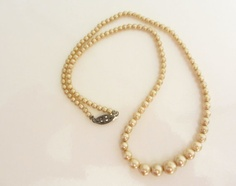 Vintage 1940s   Faux Pearl  Necklace by ThePookiesJewelryBox, $12.95