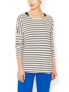 Wool Cashmere Striped Sweater | Vince