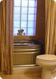 We used a 6 39 horse trough as our tub in the master bath - Which uses more water bath or shower ...