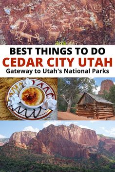 Fun things to do in Cedar City Utah from hiking and biking trails to national parks and state parks for the best fun outdoors. Explore Utah red rock trails and scenic drives, waterfalls hikes, canyon hikes, petroglyphs, hoodoos, and amazing sunsets. Click for the full list of Cedar City Utah best things to do – gateway to Utah's National Parks. Utah Bucket List | Utah Road Trip | Utah Vacation | USA Southwest Vacation Utah Vacation, Summer Vacation Spots, California Vacation, Vacation Ideas, Beautiful Places To Travel, Best Places To Travel, Cool Places To Visit, Usa Travel Guide, Travel Usa