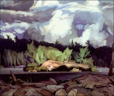 A. J. Casson (Canadian 1898 – 1992) Ragged Sky, Moose Lake Impressionist Landscape, Abstract Landscape, Landscape Paintings, Abstract Art, Group Of Seven Art, Group Of Seven Paintings, Canadian Painters, Canadian Artists, Tom Thomson Paintings