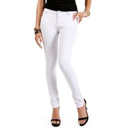 White Skinny Ponte Pants