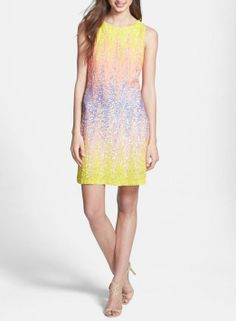 Spring fashion: ombré sequin sheath dress