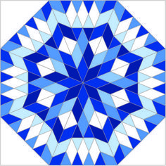 This beautiful blue-and-white quilt block, Satellite Ride, was designed by my 22-year-old son, Will Bennett. (For some reason, the image looks almost entirely black on some computers.) This is an entry in AccuQuilt's quilt block contest. Every time you vote for this block you are entered to win a prize. You can vote once a day until May 27.  The winning block will be made into a 17-foot barn quilt on AccuQuilt's headquarters building.