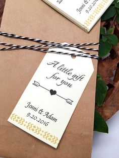 Woodland Wedding Favor Gift Tag Cards Drinking by blewbydesign