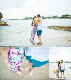 Jupiter beach engagement photography