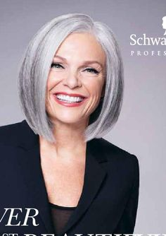 from Spring Magazine 2016 Grey Bob Hairstyles, Scene Hairstyles, Haircuts, Capital Hair And Beauty, Grey Hair Don't Care, Grey Hair Bob, Short Hair Cuts, Short Hair Styles, Grey Hair Over 50