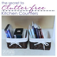 The Secret to Clutter Free Counters