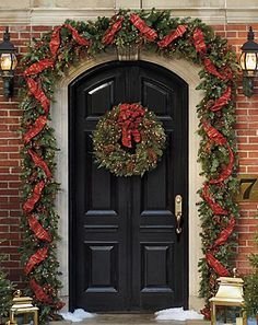 Christmas Outdoor Decor...we diy can do this! Looks easy enough to make! Dollar store here I come! This site has more ideas. Even though they are all for sale, I'm going to take these great ideas and DIY! :-)
