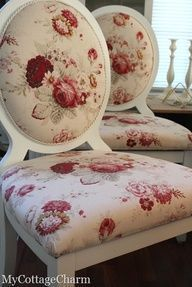 Waverly Norfolk Rose chairs I think I'll do a chair for the spare bedroom in this pattern!