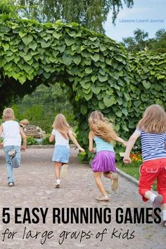 Kids Health Healthy Kids 5 Running Games for Kids via Lessons Learnt Journal - Top 5 easy to play kids running games, for large groups. Recess Games, Pe Games, Activity Games, Rock Games, Group Games For Kids, Outdoor Games For Kids, Easy Games For Kids, Kids Fun, Kids Gym Games
