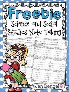 This is a great free resource to help students take notes during any science or social studies lesson.  The printables can be used over and over!