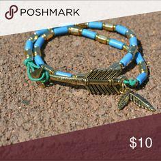 << Be Brave Turquoise Arrow Wrap Bracelet >> Super cute wrap bracelet with turquoise beads and an Arrow Charm that says Be Brave Boutique  Jewelry Bracelets