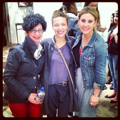 SFH Stylists Carol Davidson, Linsey Boisvert and Samantha Brown at the J.Crew Collections store on Madison Avenue.