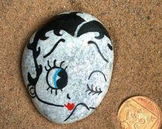 Betty Boop Ruční / maloval oblázková