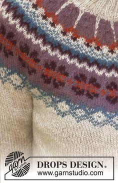 "Bergen - Knitted DROPS jacket with round yoke, pockets and Norwegian pattern in ""Alpaca"". Size XS – XXXL - Free pattern by DROPS Design Sweater Knitting Patterns, Knitting Stitches, Free Knitting, Bergen, Drops Design, Magazine Drops, Icelandic Sweaters, Drops Patterns, Knit Art"