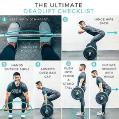 Deadlift is one of the best compound exercises. It focuses and create tention on each and every muscle of your body. Correct form is must when performing any workout. Fitness Workouts, Fitness Motivation, Tips Fitness, Gym Workout Tips, Body Fitness, Fitness Models, Lifting Motivation, Fitness Facts, Workout Style