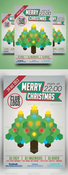 Minimal Flyer Vol.5 (Christmas) #GraphicRiver Features: 4×6 inch flyer (with bleed) 1 PSD template with help file. It's 300 DPI and the layers are fully customizable. The flyer is in CMYK color and is print ready.You should know these things… The icons are actually a font and were used for illustration purposes Fonts used are: 1. Ostrich Sans: .fontsquirrel /fonts/ostrich-sans 2. Social Logos: .dafont /social-logos.font 3. Big Noodle tilting: .dafont /bignoodle-titling.font 4. Caviar Dreams…