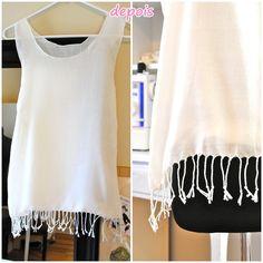 diy blog vittamina como fazer saida de praia customizando lenço