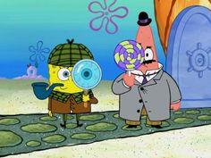 Enquanto Bob Esponja é um detetive, Patrick está sendo um adulto que gosta de doces.