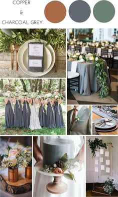 Thrilling weddings recommendation for arranging a sweet wedding. See this splendid pink-link number 8525071973 here. Charcoal Grey Weddings, Olive Green Weddings, Olive Wedding, Gray Weddings, Themed Weddings, Romantic Weddings, Copper Wedding Decor, Grey Wedding Decor, Rustic Wedding Colors