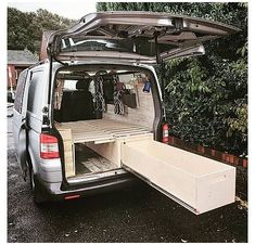 Campervan Bed, Campervan Interior, Campervan Furniture, T4 Camper Interior Ideas, Vw Transporter Campervan, Toyota Hiace Campervan, Self Build Campervan, Campervan Ideas, Equipement Camping Car