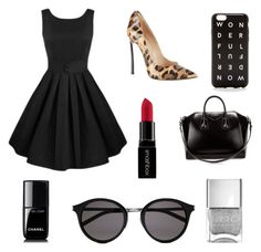 """Untitled #2"" by naomieugenia ❤ liked on Polyvore featuring Casadei, Givenchy, Yves Saint Laurent, J.Crew, Chanel and Smashbox"