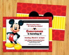Mickey Mouse birthday invitations!