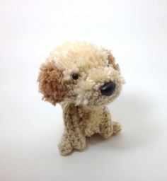 Stuffed Dog Labradoodle Goldendoodle Amigurumi Dog Crochet Puppy Plush Doll / Made to Order  love this idea!