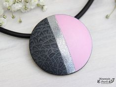 Modern necklace, Pink necklace, Geometric necklace, Inspirational gift woman, Elegant jewelry, Summer necklace, Woman gift, Unique jewelry