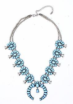 Turquoise Squash Blossom Necklace