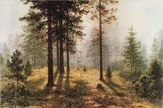 Fog in the forest - Ivan Shishkin