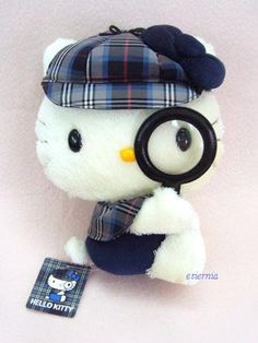 England Fair Detective Hello Kitty Plush