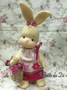 Diy Clay, Clay Crafts, Diy And Crafts, Sculpey Clay, Polymer Clay Art, Fondant Figures, Clay Figures, Bunny Crafts, Easter Crafts