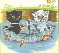 Pouf et Noiraud, illustrator Pierre Probst Illustration Mignonne, Cute Illustration, Super Cute Cats, Sad Cat, Photo Chat, Cat Crafts, I Love Cats, Cat Art, Animation