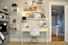 One Room Challenge:  Book Ledges, Wall-Mounted Nightstands, and More