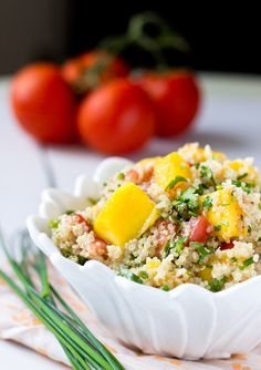 Fresh Tomato Mango Quinoa Salad | Light Orange Bean