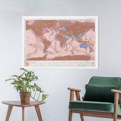 World map of our travels personalized couple gift anniversary gift scratch map rose gold gumiabroncs Image collections