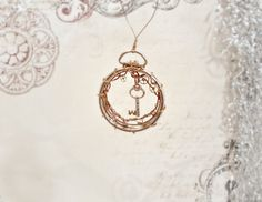 Steampunk Key and Wire Wrap Christmas Ornament by MelsMakeBelieve, $15.00