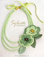 Ravelry: Sylvan Crocheted Necklace/Headband pattern by Alla Koval.... Free pattern!