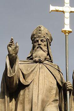 Saint Cyrill statue in Třebíč Origins, Czech Republic, Buddha, Saints, Statue, History, The Originals, Retro, Places