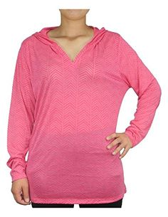 de9021ceccd8a5 Amazon.com: PLUS SIZE Balance Collection (By Marika) Womens Lightweight Yoga  Hoodie / Sweatshirt 1X Rose: Clothing
