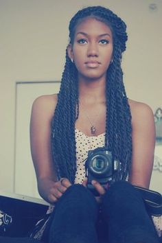 Another example of Senegalese twists I want. The length and size of the twists are just perfect.