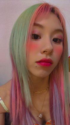 Kpop Girl Groups, Kpop Girls, My Girl, Cool Girl, Chaeyoung Twice, Dye My Hair, Nayeon, Pink Hair, Hair Inspo
