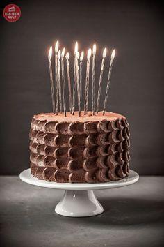 #Geburtstagstorte #Torte #Rosenblüten #Sahne #Rezept #Schoko #Mann #Kerze…