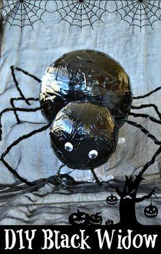 DIY Black Widow Spider Craft from MomOnTimeout.com #EEKologist #craft #sponsored