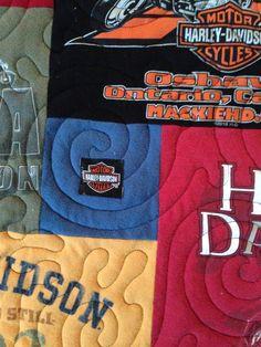 T-shirt quilt DEPOSIT Mosaic Memory Blanket Graduation Gift Harley Davidson quilt All custom made.